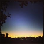 Sunset lovers at Alamo park